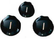 Black Jazz Bass/Mustang Knobs (set of 3)